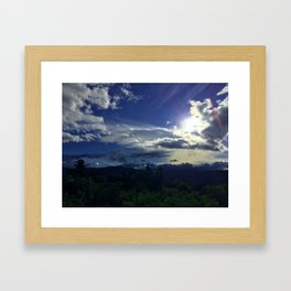 North Conway Sunset Framed Art Print