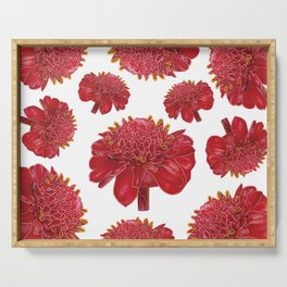 Floral Theme- Ginger Lily Watercolor Illustration Serving Tray