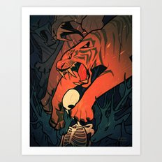 Weretiger - Hot Art Print
