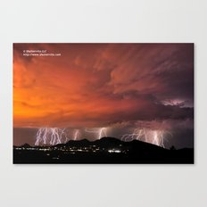 Lighting Up the Town Canvas Print