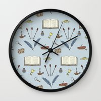 literature Wall Clocks featuring Classic Literature by Meghan Hill