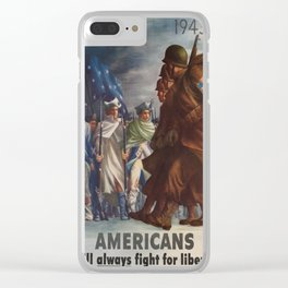 Vintage poster - World War II Clear iPhone Case