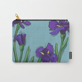 Irises on Blue Carry-All Pouch