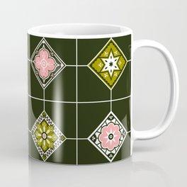 Talavera Mexican Tile – Blush & Sage Palette Coffee Mug