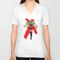 android V-neck T-shirts featuring The Android by CaptainSunshine