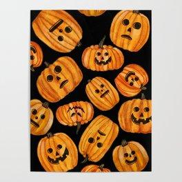 Creepy Pumpkins Poster