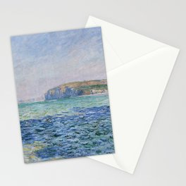 Shadows on the Sea at Pourville by Claude Monet Stationery Cards