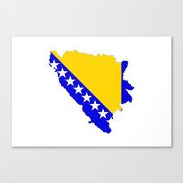 bosnia herzegovina flag map Canvas Print