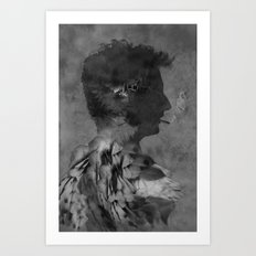 A tribute to Alain Bashung Art Print