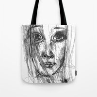 leah flores Tote Bags featuring LEAH by EDEN