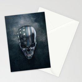 American Flag Skull Stationery Cards