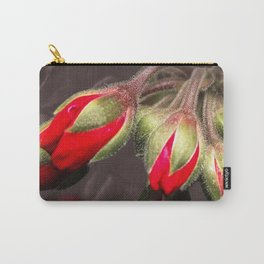 Bloom  Red And Dark Carry-All Pouch