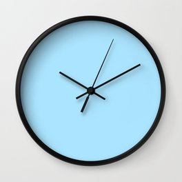 Spring - Pastel - Easter Blue Solid Color Wall Clock