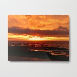 Skies of Fury at Sunset Metal Print
