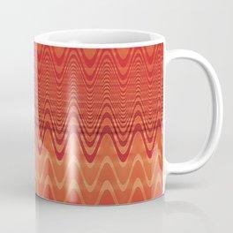 Bright Orange Ombre Chevron Wave Fade Out Coffee Mug