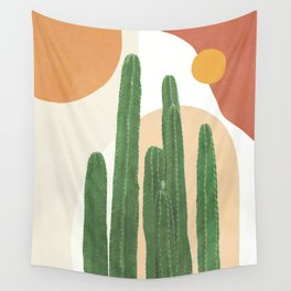 Abstract Cactus I Wall Tapestry