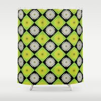 90s Shower Curtains featuring 90s Daisy Argyle by Paget Fink