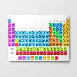 Periodic Table Mendeleev Metal Print