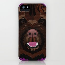 Icons of the Dog Park Labradoodle Design in Bold Colors for Pet Lovers iPhone Case