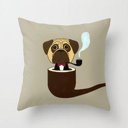 Big Boss Pug Throw Pillow