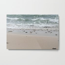 Seashore Sandpipers in tideland Metal Print