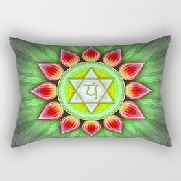 Anahata Chakra - Heart Chakra - Series IV Rectangular Pillow