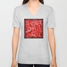 Veterans | Memorial Day | Remembrance Day | We Remember | Red Poppies | Nadia Bonello Unisex V-Neck
