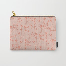 Winter Berries Coral Carry-All Pouch