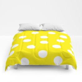 Polka Dots - Aureolin and White Comforters