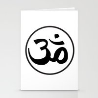 om Stationery Cards featuring Om by Albino Chewbacca