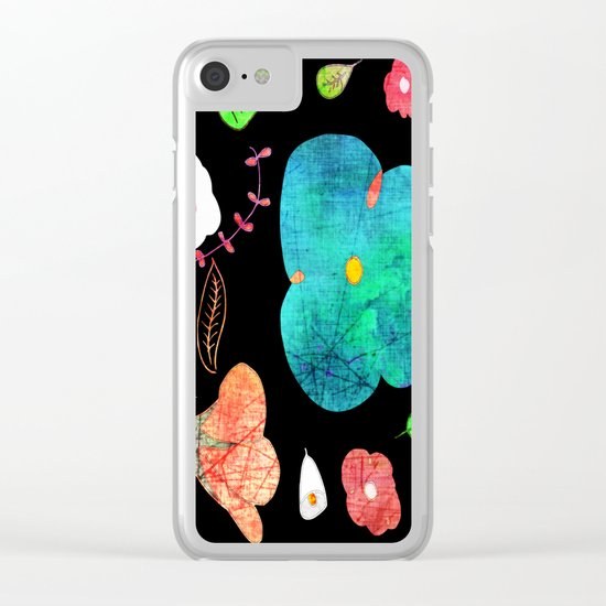 Japaneses midnight garden Clear iPhone Case