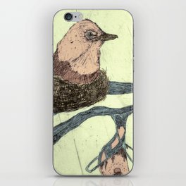 Bird Etching iPhone Skin