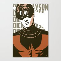 dick Canvas Prints featuring Dick by Shop 5