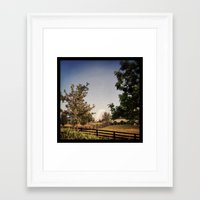 farm Framed Art Prints featuring Farm by Yellow Barn Studio