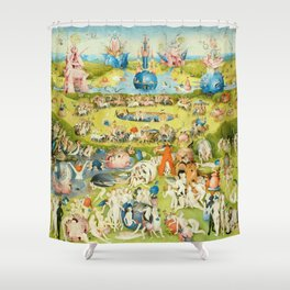 The Garden of Earthly Delights by Bosch Shower Curtain