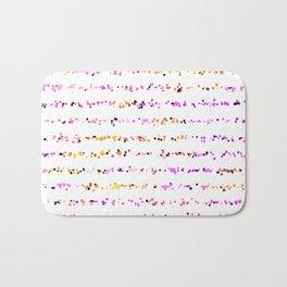 Paint Splatter Lines in Sunset Bath Mat