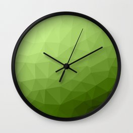 Greenery ombre gradient geometric mesh Wall Clock