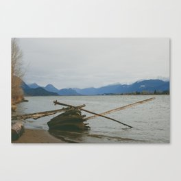 River and Mountains Canvas Print