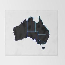 Australia States In Silhouette Throw Blanket