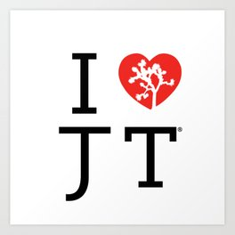 I love Joshua Tree by CREYES Art Print