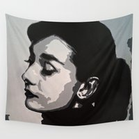audrey Wall Tapestries featuring Audrey by AUSKMe2Paint