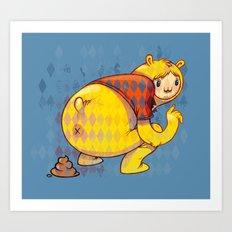 Just poo Art Print
