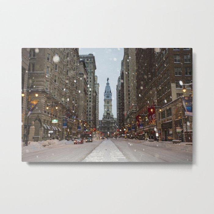 Snow, Philadelphia Metal Print