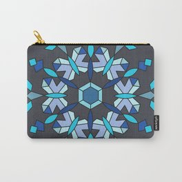 Moth's Crystal Snowflake - Blue Version Carry-All Pouch