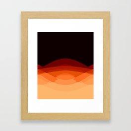 Dark Orange Ombre Framed Art Print
