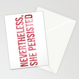 """Nevertheless, She Persisted"" Watercolor Stationery Cards"