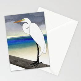 American Great Egret Stationery Cards