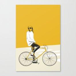 The Yellow Bike Canvas Print