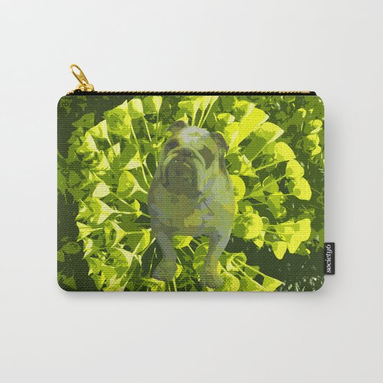 Green Pug Carry-All Pouch