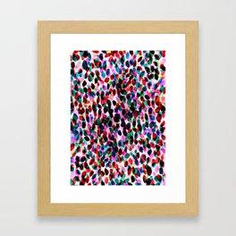 Rainbow Drizzle Jewel Framed Art Print